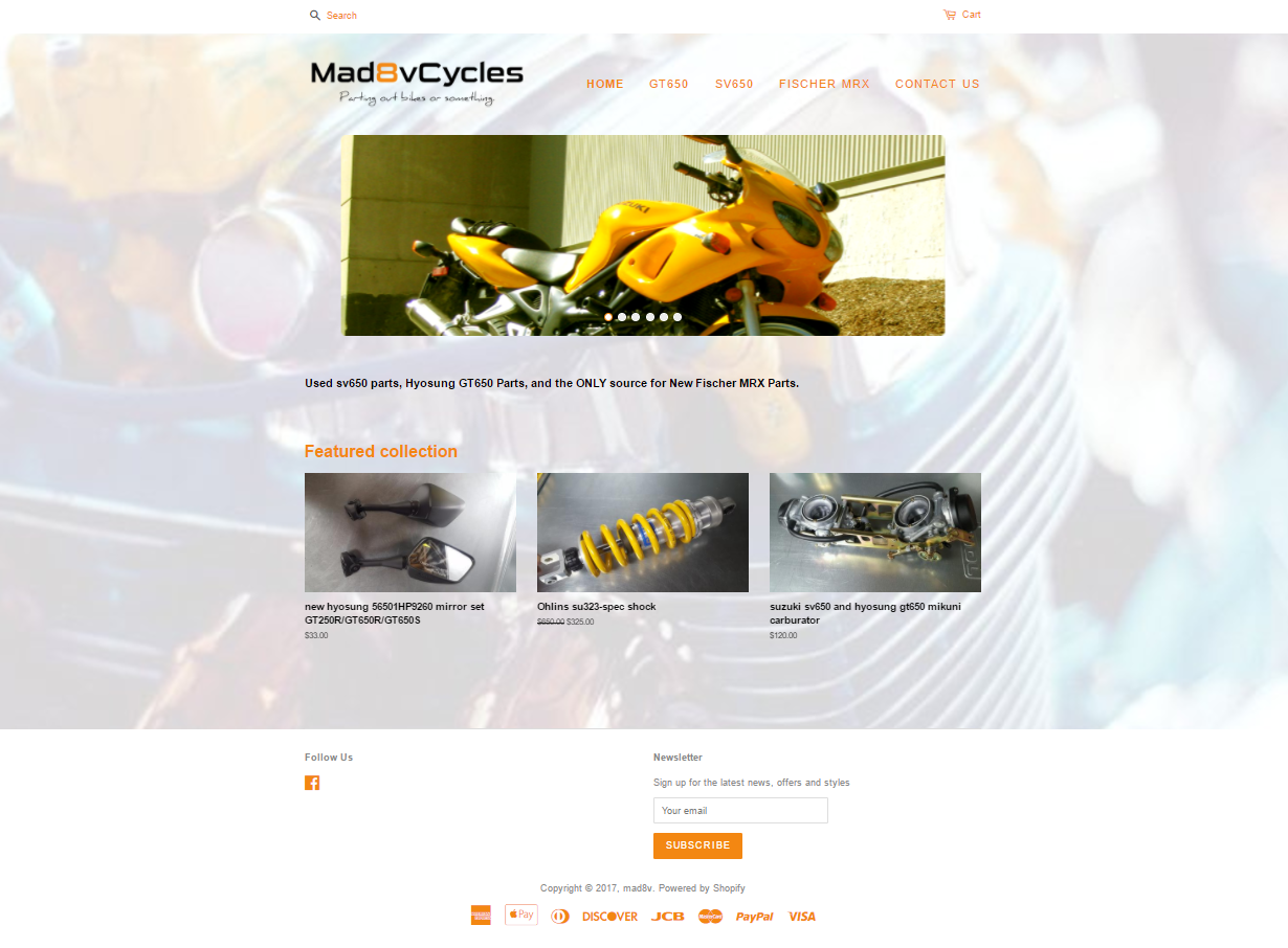 Mad8vCycles Web Design